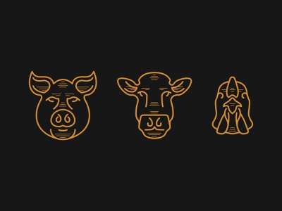 Baldy's Smoked Meats Illustrations restaurant branding illustration logo branding design