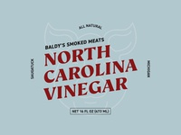 Baldy's Smoked Meats North Carolina Vinegar