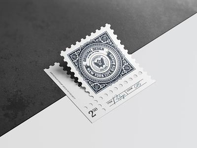 Postage stamps mock up 3 paper template vintage typography design photorealistic mockup psd branding smart object postage stamp