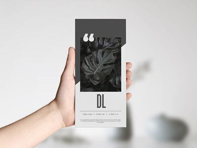 Leaflet DL Mock Up paper design leaflet dl folder smart object typography logo photorealistic mockup template label mock-up branding psd