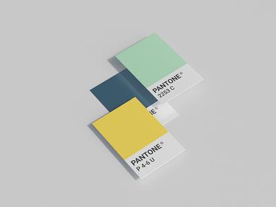 Pantone card mock up smart object pantone card card photorealistic mockup typography logo psd paper branding