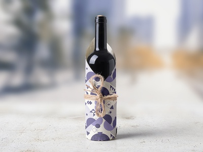 Wine Bottle Wrapping Mock Up wrapping paper wine white wine tag red wine red realistic photorealistic presentations photo wine paper mockup leaf label graphic grapes glass drink bottleneck bottle wine bottle