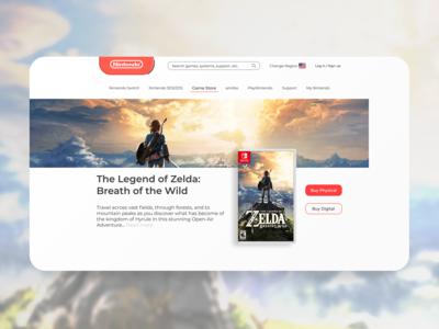 Nintendo Landing Page Concept