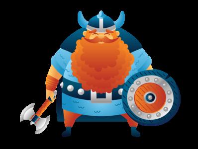 Viking warrior cute character