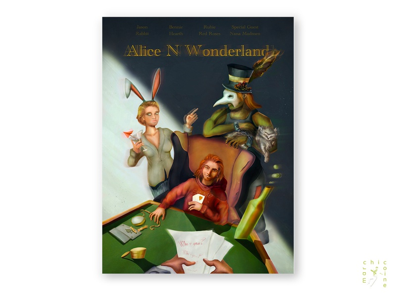 alice n wonderland lineart fantasy conceptual characterdesign character concept art poster art concept movie art movie book bookcover cover posterillustration poster digitaldesign graphicdesign digitalart illustration graphic