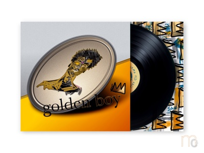 goldenboy - Tribute to Basquiat painting typography illustration homage concept visualart music recordsleeve record recordart albumart cover poster graphicart graphicdesign graphic tribute basquiat