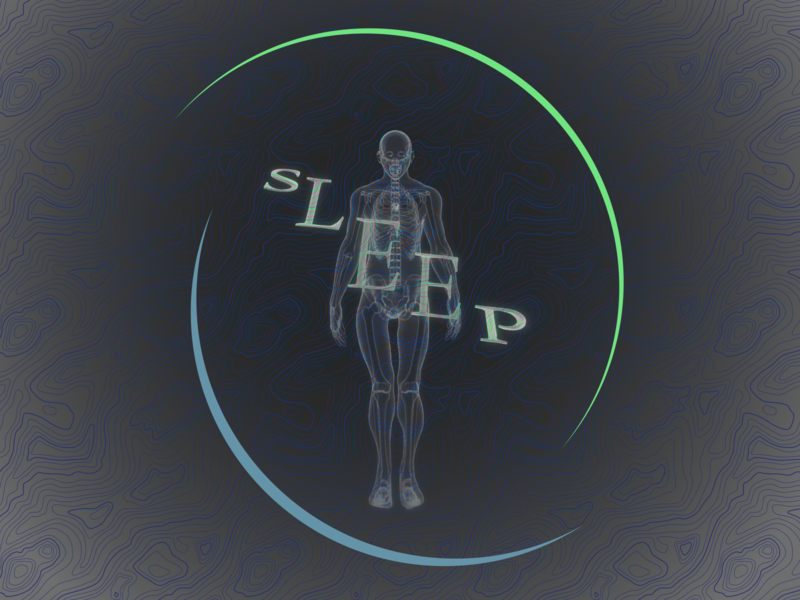 sleep abstract concept character symmetry body human xray blender3d still b3d blender 3dart graphic graphicdesign illustration