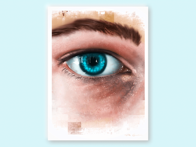 deep dive poster surreal abstract graphicillustration isee procreate painting artwork realism hyperrealism eye study illustration