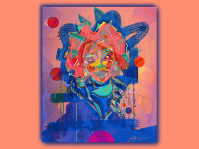 inevitable triumph v1 graphicdesign portrait illustration portrait art artwork portrait portraiture abstract art abstract graphic illustration concept graphic illustration