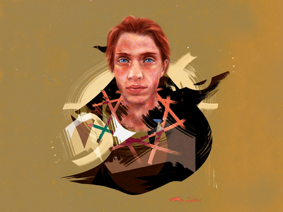undertow portraitpainting painting portrait character abstract digitalart concept graphic graphicdesign illustration