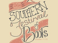 Southern Festival of Books Poster