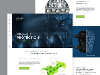 SKYDEX website digital strategy website homepage vertical navigation