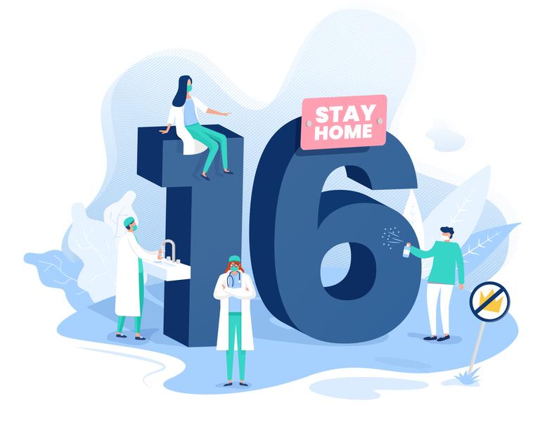 hot16challenge covid-19 illustration doctors design covid 19 flatdesign character design flat illustration vector illustration