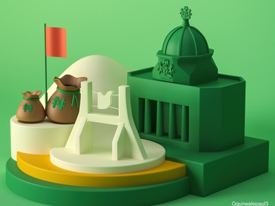 3D illusrattion of Nigerian Cities- Abuja paulolusola cities illustration 3dart cinema4d 3dillstartion motion graphics 3d animation