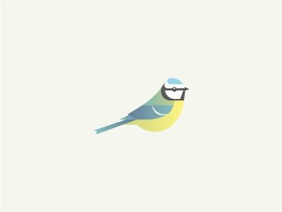 Blue Tit blue tit bird illustration gradients abstract