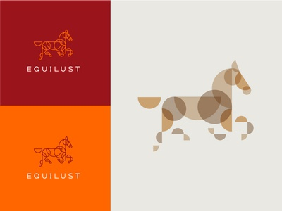 Horse new 2 logo horse stained glass colour multiply brown orange burgundy gold cream branding abstract