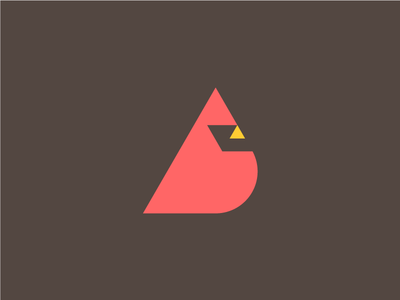 Cardinal brown red bird cardinal branding icon mark logo