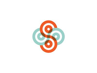 S Unused knot celtic minimal geometric s overlay branding icon mark logo