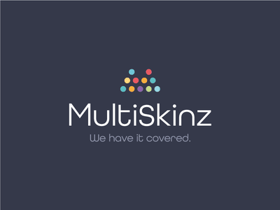 Multiskinz colour dots m branding icon mark logo