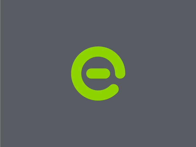 Elight lightbulb bulbs led green e monogram branding icon mark logo