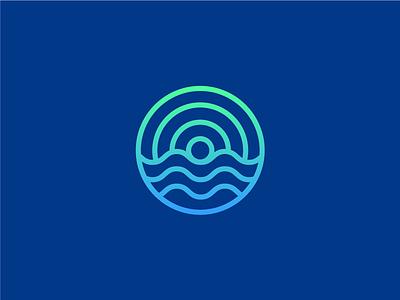 Atlantic Drift water blue sea ocean atlantic van camper campervan branding icon mark logo