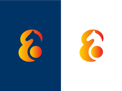 E Horse e abstract geometric horse branding icon mark logo