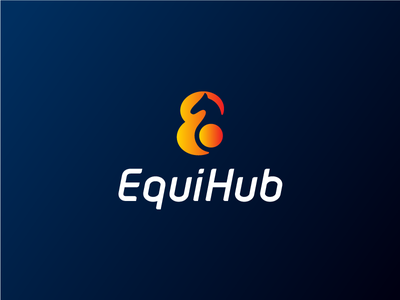 EquiHub e abstract geometric horse branding icon mark logo