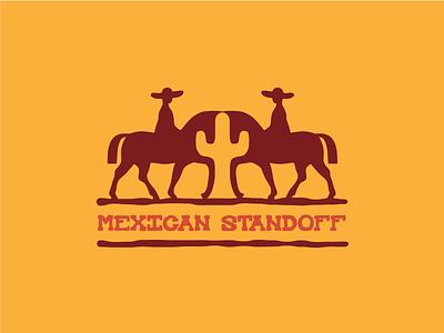 Mexican Standoff logo standoff cactus horse mexican