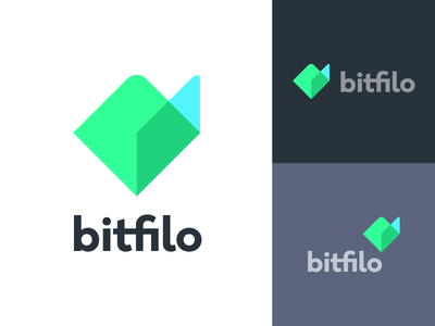 bitfilo overlay abstract geometric bitcoin crypto cryptocurrency file folder branding icon mark logo