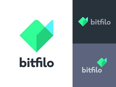 bitfilo overlay abstract geometric bitcoin crypto cryptocurrency file folder branding icon mark logo