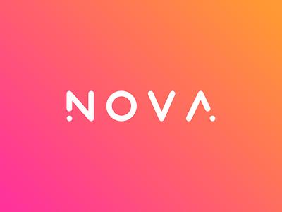 Nova adc nova gradient rounded font logotype identity branding logo