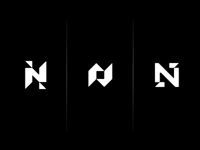 Ns geometric identity branding abstract angles n monogram logo