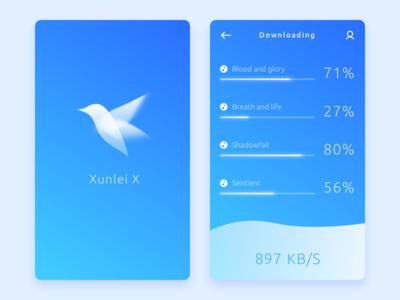 Xunlei X Downloader Concept