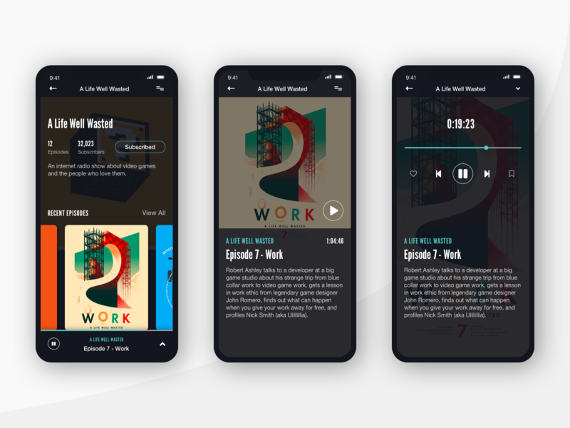 Podcast Mobile Player