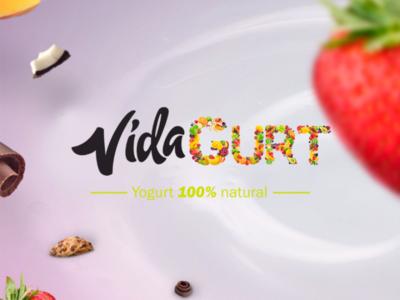 Logo VidaGurt brand logodaily logolove imagotipo mark logomark vida yogurt logotipo logo