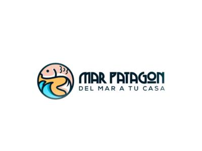 Logo Mar Patagon fish logotype logofish logoinspire logolove branding logodaily logo