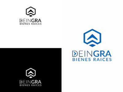 Logo DEINGRA bienes y raíces. logotype logo design bienes raíces logo