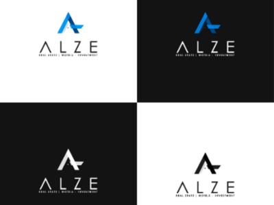 Alze Real state logotype minimalista icon mark logotype logomark logo art real state logo