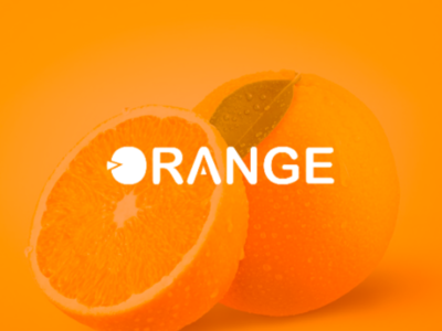 Orange fresh logo concept