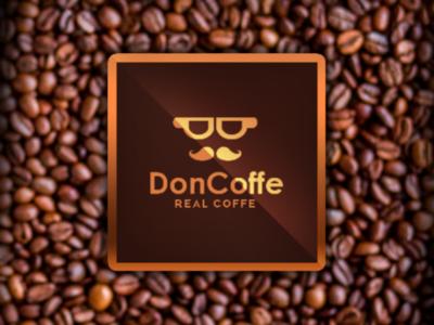 Logo design DonCoffe brand logobrand art logotype coffee coffe marca logoconcept logodesign logo
