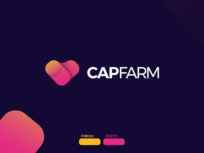 CAPFARM Logo Design photoshop logoinspirations logomark branding logobrand logotype vector logo design challenge logo a day illustration design logo