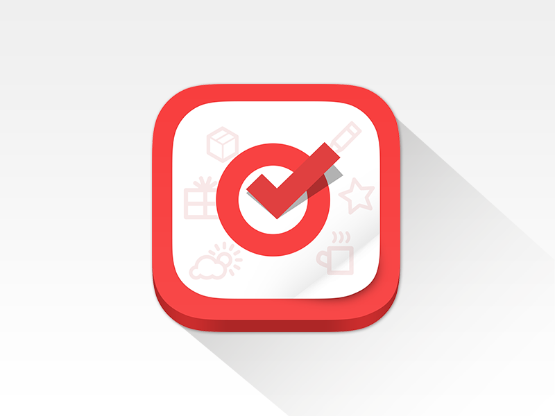 Fastinflow Application Icon icon ios icon flat design flat icon flat long shadow red grey white answer survey questionnaire