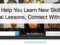 Homepage header detail