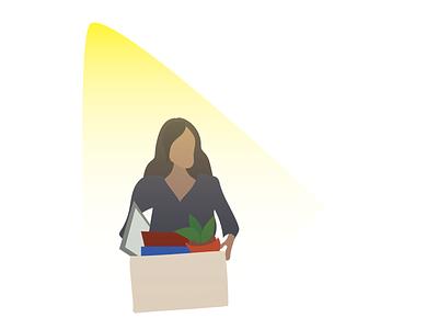 Spotlight on Employee Turnover light spotlight moving illustration drawing woman