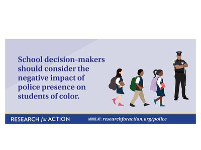Police in Pennsylvania Schools policeman education research pennsylvania illustration antiracist schools police