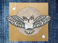 Gray Owl Illustration
