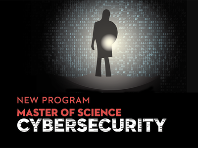 Cybersecurity Master's Degree technology code binary college illustration flashlight cyber security cybersecurity