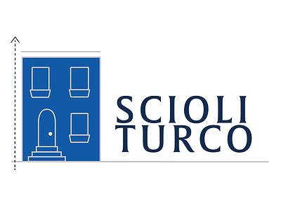 Scioli Turco logo blueprint philadelphia house rowhome non-profit nonprofits logodesign logo illustration