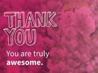 Thank you. You are truly awesome.