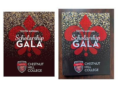 Gala Program confetti fleur de lis program invite gala branding
